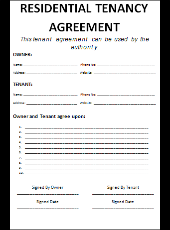 Residential Lease Agreement Template Ontario Free Resume Pdf Download
