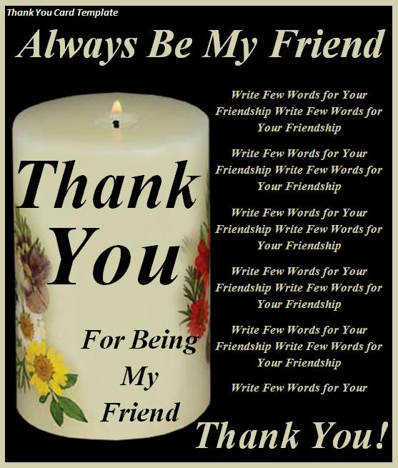 Thank You Card Template Free Printable Word Templates, - microsoft word thank you card template