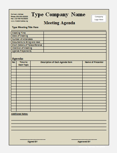 blank meeting minutes template - minutes of meeting word template