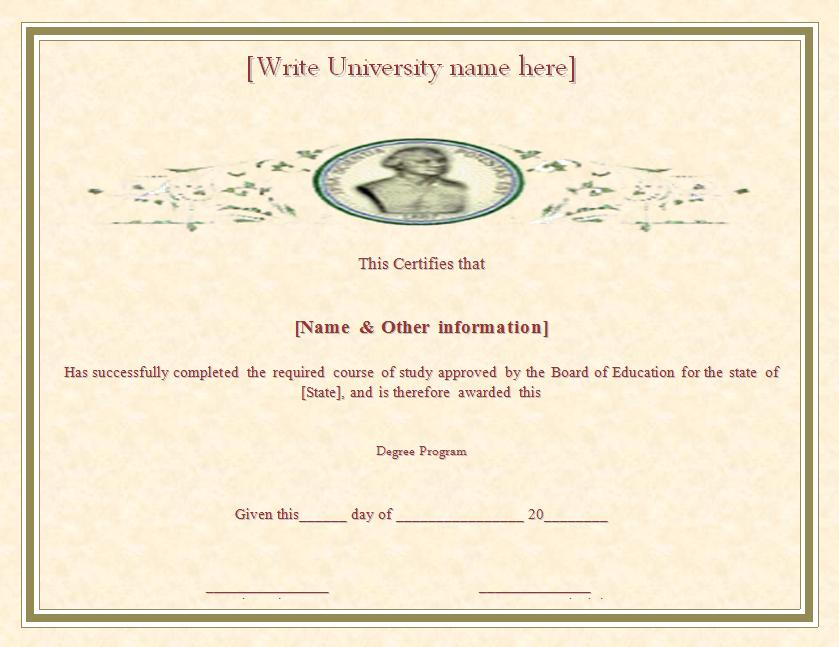 Degree Certificate Template Free Printable Word Templates, - degree in microsoft word