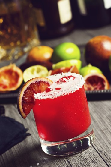 blood orange margarita - istock