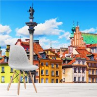 Colourful Buildings Wall Mural City Skyline Wallpaper ...