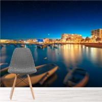 Ibiza Ocean Wall Mural Coast Beach Wallpaper Bedroom ...