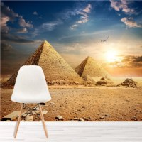 Egyptian Pyramids Wall Mural Landmarks Wallpaper Bedroom ...