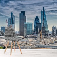 London Cityscape Wall Mural City Skyline Wallpaper Office ...