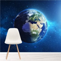 Planet Earth Wall Mural Space Wallpaper Kids Bedroom ...