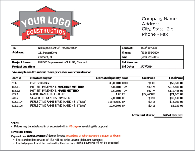 Contractor Estimate Contractors And Borrowers Estimate Sheet