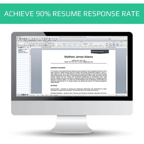 BA Resume CV writing services - Business Analyst Guru - ba resume