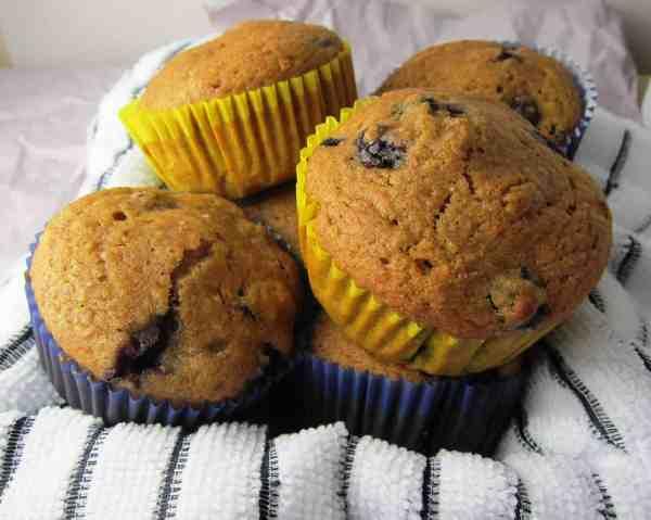 wheat germ blueberry muffins