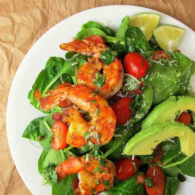 Cajun Shrimp Salad with Cilantro Lime Dressing. Get the recipe here .