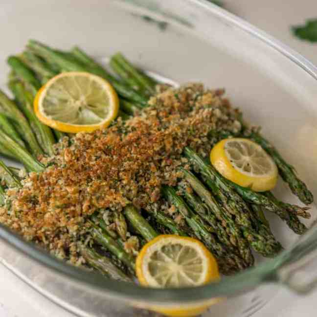 Asparagus with Crispy Topping