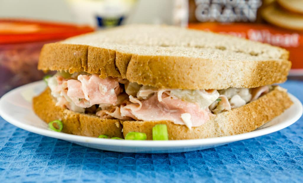 Hawaiian Chicken Salad Sandwich