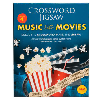 Music from the Movies Crossword Jigsaw puzzle