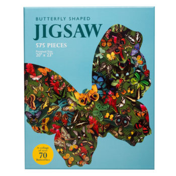 Butterfly shaped 575 pc jigsaw puzzle