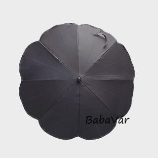 Fekete napernyő babakocsira UV védelem