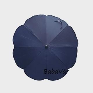 Sötétkék napernyő babakocsira UV védelem