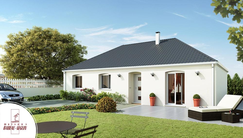 Aubetiere -maison moderne plain pied pas cher - Photos De Maison Moderne