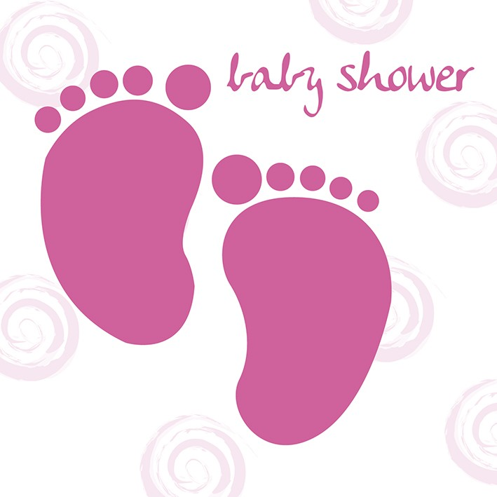 Baby Girl Feet Baby Shower Greeting Card