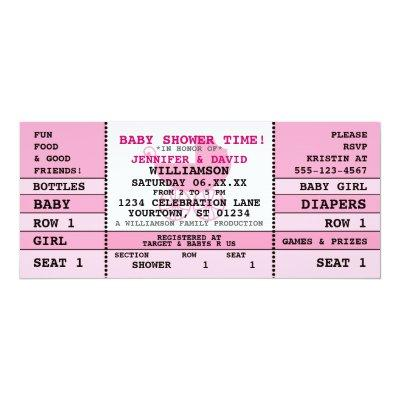 Concert Ticket Baby Shower Invitations Baby Shower Invitations