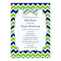 Blue Green Bow Tie Shower Baby Shower Invitations | Baby ...