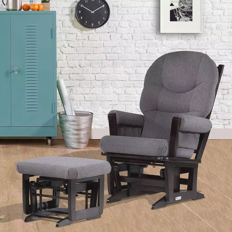 Large Of Glider And Ottoman Set