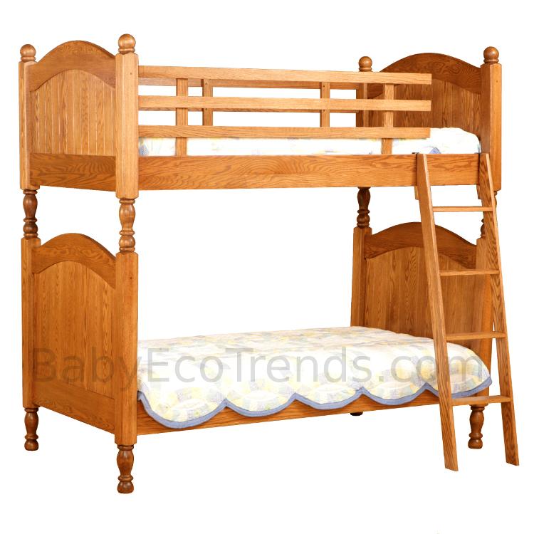 Amish Beadboard Bunk Bed Solid Hardwood Usa Made Eco