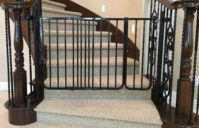 Black Metal Baby Gate For Stairs