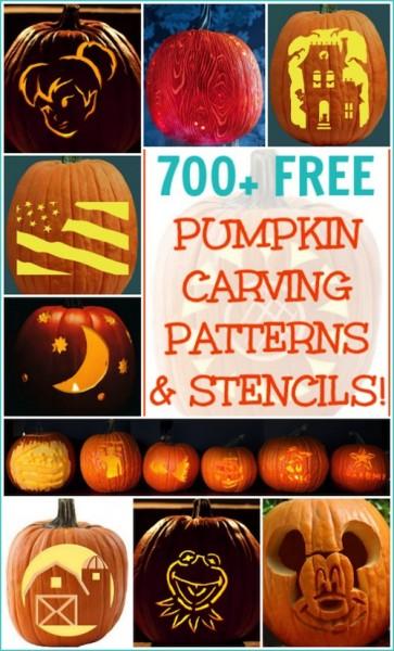 700 Free Pumpkin Carving Patterns and Printable Pumpkin Templates!