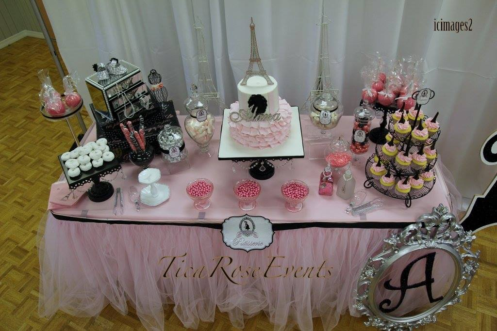 Ohh Lala It S A Girl Paris Baby Shower Dessert Table