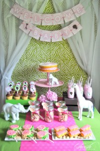 Pink & Green Safari Baby Shower - Baby Shower Ideas ...