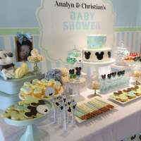 Baby Mickey Mouse Baby Shower dessert table - Baby Shower ...