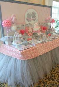Pink Tutu Twin Baby Shower