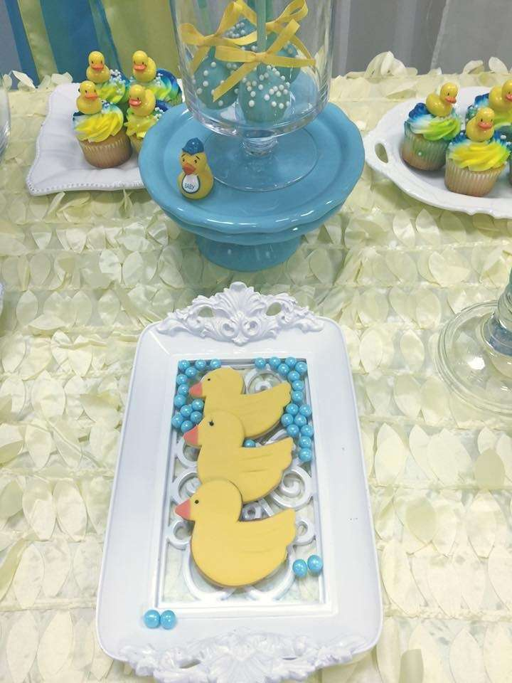 rubber duckies baby shower party ideas
