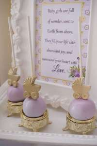 Elegant Yellow and Purple Baby Shower - Baby Shower Ideas ...