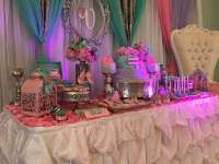 The gallery for --> Pink And Green Baby Shower Table
