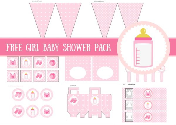 Free Baby Girl Baby Shower Printable Package - Baby Shower Ideas - Free Baby Shower Label Templates