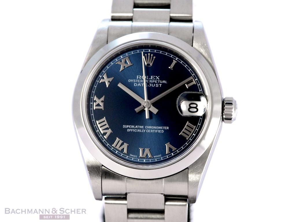 Rolex Datejust Medium Ref 78240 Stainless Steel Paper Bj 2003