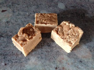 Homemade Peanut Butter Fudge - Okay, I know this is not a typical item you would find in a bakery, but it is still delicious.  And since we offer jelly, I figured I should offer something peanut butter!