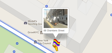Google Street View Man with Rainbow Flag