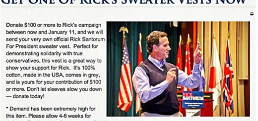 Santorum Sweater Vest