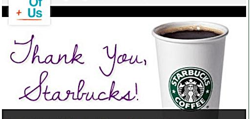 Starbucks Thnak you