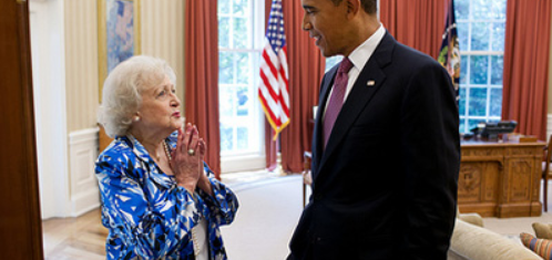 Betty White Meets Obama
