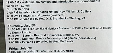 Cross Burning Pastors Conference