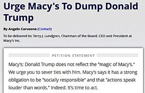 Macy's DUMP TRUMP