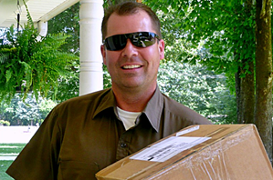 Sexy UPS guy with BIG package