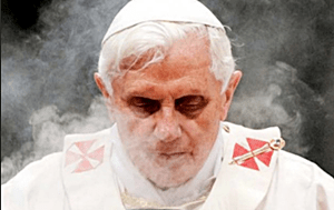 Gay hating pope benedict evil