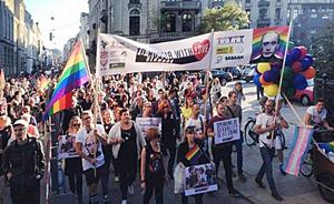 Copenhagen Russian protest