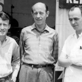 Core ONE Inc. staff (from left ) Don Slater, W. Dorr Legg, and Jim Kepner, circa 1957-1958