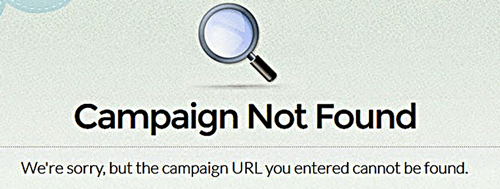 Campaign not found