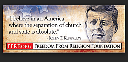 JFK seperation of church